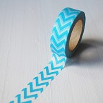 40% OFF! Washi Tape 15mm x 10mts AQUA CHEVRON