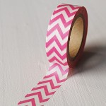 40% OFF! Washi Tape 15mm x 10mts PINK CHEVRON