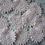 10 Gorgeous Cream Vintage Doilies
