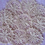 5 Gorgeous Antiqued Doilies Vintage Doily