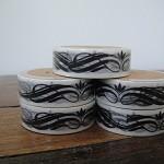 Washi Tape - Black Flower 2