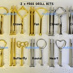 10 x 3 tier Cake Stand Handle Fittings Silver Gold Mixed Styles FREE DRILL BIT
