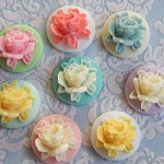16 Victorian Rose Cameo Cabochons - Assorted Colours