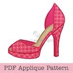High Heel Shoe Applique Pattern Shoe Applique Template PDF