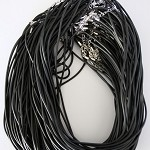 10 x Black rubber cord necklaces