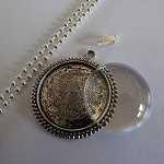 10 x DIY Round Cameo 1 inch pendant kit - Silver Toned
