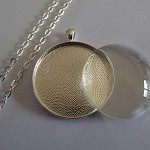10 x DIYLarge Round 38 mm pendant kit with longer length rolo chain