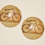 2 Handmade Vintage Bicycle Cobochon Glasses - 25mm