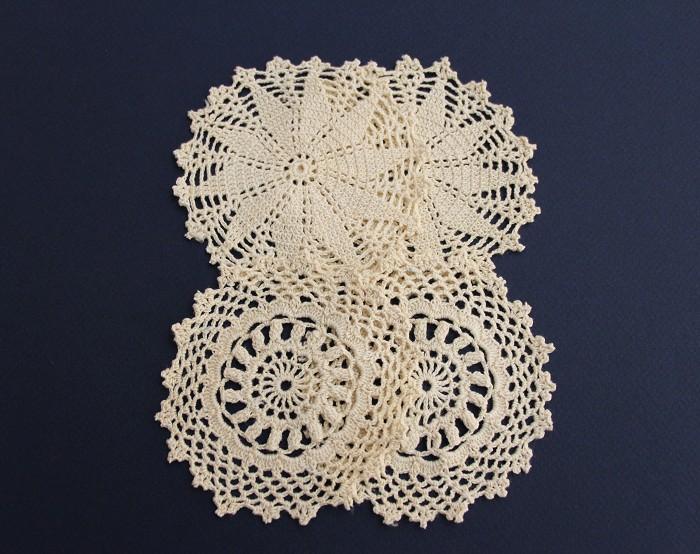 Lacy Cream Crochet Doilies - Vintage Doily (4)