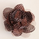 LARGE TULLE & SILK POLKA DOT FLOWERS