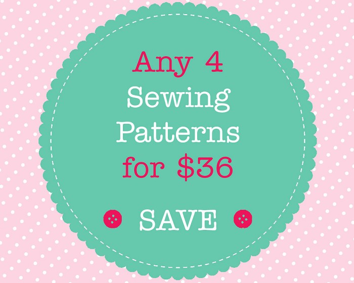 Sewing Pattern Bundle - 4 PDF Sewing Patterns of Your Choice