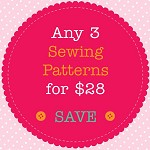 Sewing Pattern Bundle - 3 PDF Sewing Patterns of Your Choice