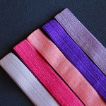 5 Pinks & Purples Soft Elastic Headbands