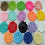 BULK DE-STASH!!! Floral Resin Setting  x 30 - brooch or pendant use