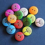 14 Colourful Tree of Life Wooden Buttons