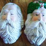 1 x Santa head for making santa dolls ceramic