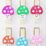 Mushroom Pegs 24 pegs
