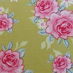 1/2m Tilda Green Rosy fabric 50cm X 140cm