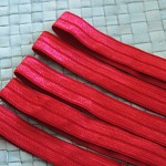 5 Red Soft Elastic Headbands