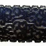 10m x 5cm elastic lace black, comes in cream or  white  colour