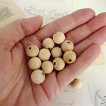 Round Wooden Beads - Natural - 12mm - Pack of 20