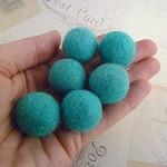 Felt Balls x 20 - Aqua - 2cm