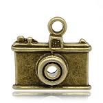 5 Bronze Tone Camera Charms