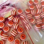 Orange beads. Strip bead white measure approx 8mm x 60