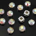 45 Rhinestone Flat Back Buttons LAST SET