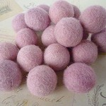 Felt Balls x 20 - Light Pink - 2cm