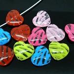 25 Heart Beads