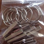 10 x Sets 1.00 Inch - Key Fob Wrist Hardware with Ring10 x Sets 1.00 Inch - Key