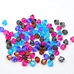 100 Bicone Acrylic Space Beads