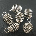 20 Spring Beads Cage Charms