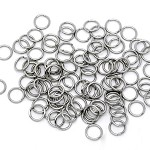 100 Stainless Steel Open Jump Rings 8mm