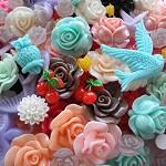 150+ Cabochons MIX colours & designs