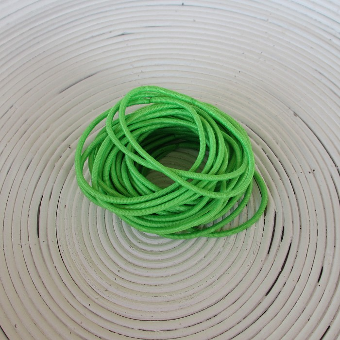 25 x Bright Green Hair Ties/Elastics