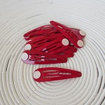 12 x Red Snap/Hair Clips with Glue Pad (50mm)