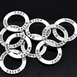 "5 x ""Love Hope Faith"" Ring Pendants"