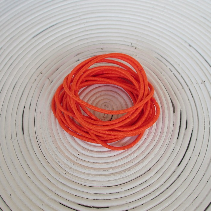 25 x Orange Hair Ties/Elastics