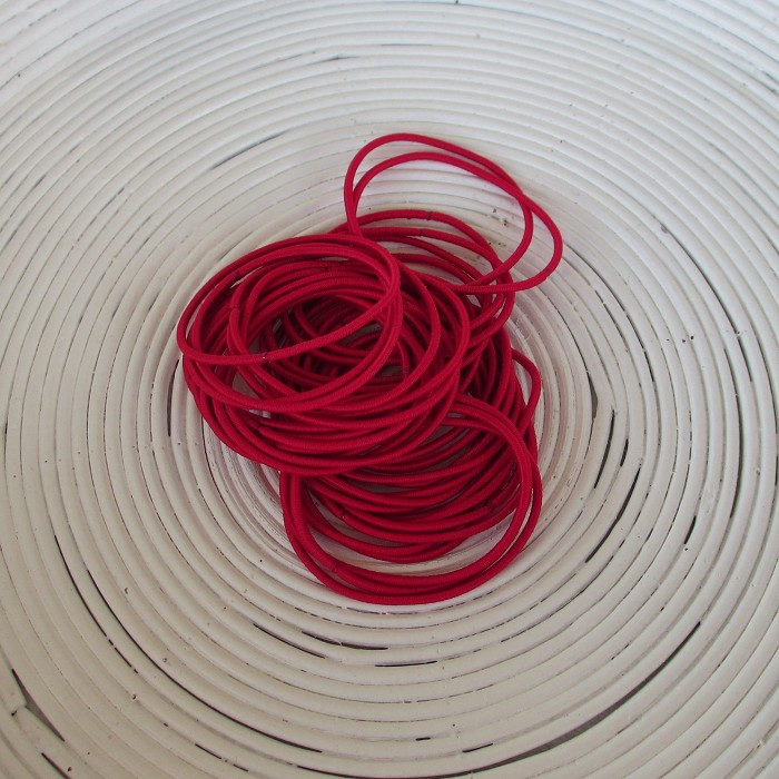 25 x Red Hair Ties/Elastics
