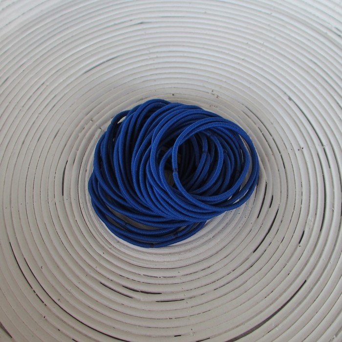 25 x Bright Blue Hair Ties/Elastics
