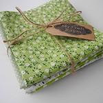 Fabric Bundle Cotton 7 pieces 50x50cm GREEN