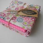 Fabric Bundle Cotton 7 pieces 50x50cm PINK