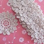 10 Crochet Vintage Ecru Doilies