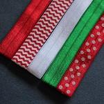 5 Christmas Colour Palette Soft Elastic Headbands