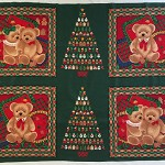 Teddy Bear Christmas quilt panel never used never washed