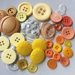 30 orange brown yellow buttons for embellishment cardmaking sewing craft button