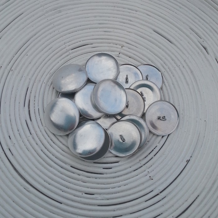 (Size 45 ~ 28mm) 50 x SHANK Back Self Cover Buttons