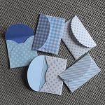 5 Tiny Envelopes BLUE